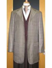 JSM-1834 Testardi Brand 3 Buttons Checker Pattern 95% Wool5%