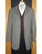 Product#JSM-1836TestardiBrandGrey3Buttons95%Wool5%Cashmere