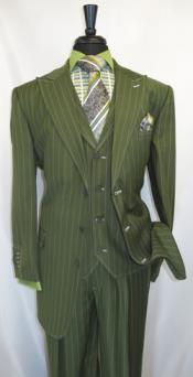 RM1630 Milano Moda Pin Stripe 3 Button Style Single