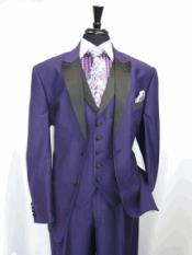 RA29 Two Toned 1920s Black and Purple Tuxedo style