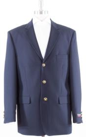 MK608 Solid With Brass Buttons Dinner Jacket Flap Pockets