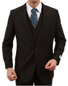 1Button Vested Peak Lapel Vested