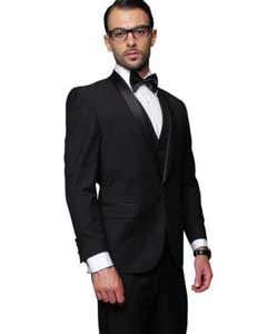 Blacked Lapel Two Toned Suit