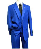 MK419 Falcone Brand 3 Piece Fashion Suit Vett Vested