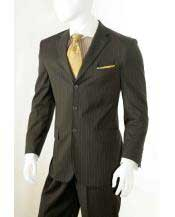Three button Banker Chalk Pinstripe