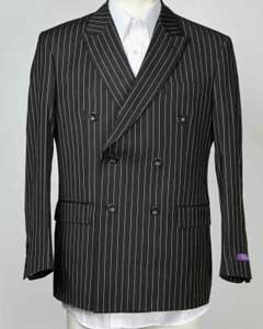 6 Button Pinstripe Double Breasted