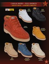 High Top Exotic Skin Sneakers