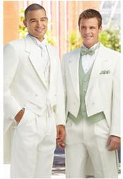 JSM-2244 Ivory ~ cream ~ off white tailcoat tuxedo