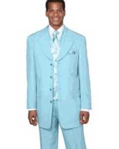 Sky Blue Dress Suit