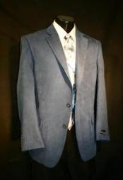 Azure Blue Microfiber Sportcoat