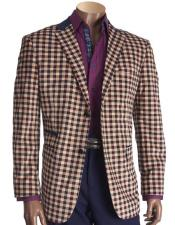 Mens Check Two Buttons