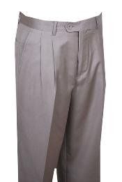 QE324 long rise big leg slacks Dress Pants Beige