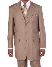 K9462 New Peak Lapel Pinstripe Stripe 1940s Mens Suits