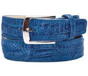 RM1167 Belvedere attire brand Ciro Genuine Crocodile Ocean Blue
