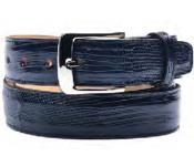 RM1170 Belvedere attire brand Italo Genuine Lizard Navy Belt