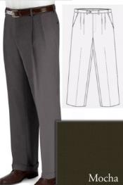 PN-R66 Big and Tall Dress Pants Slacks For Mocha