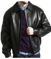 PN74 The Classic Baseball Leather Bomber Jacket In A