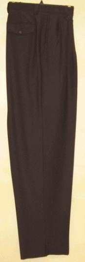 NH511 long rise big leg slacks Liquid Jet Black