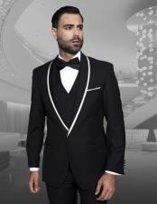 JSM-877 Mens Fashion Tux by STATEMENT Black