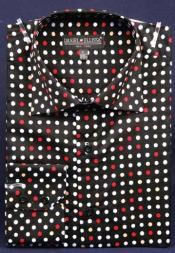 Product#AC-437DottedFancy100%CottonDressFashionShirtWithButton