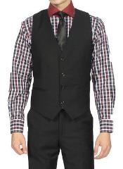 MK200 Liquid Jet Black Vest & Tie & Matching