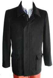 RH50 Peacoat Wool Fabric Blend Single Breasted 4 Button