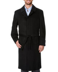 PN_W45 Ronald Liquid Jet Black Wool Fabric And Cashmere