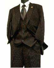 Re11 Pinstripe Long length Zoot 1940s Mens Suits Style