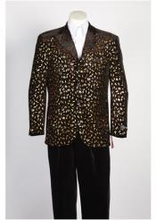 mens Fashion Paisley Floral Blazer
