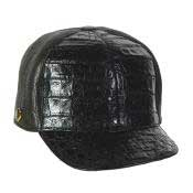 DEV23 Baseball Liquid Jet Black Genuine Hornback Cap
