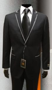JK9340 tuxedo Suits for Online Liquid Jet Black Gianni
