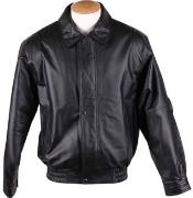 RM1639 Zip-Out Liner Classic Leather Bomber Jacket Black Available