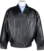 Western Leather Bomber Jacket