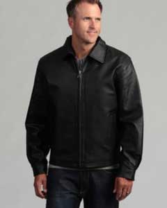 AC-206 Pig Napa Leather Jacket Liquid Jet Black Available