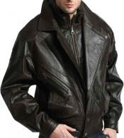 JSM-805 Mens Classic Full Sleeve Classic Double Collared Lambskin