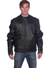 Mens Black Classic Front Zipper