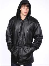 Mens Classic Black Leather Removable