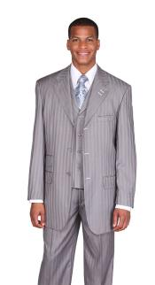 RA6724 Tone on Tone light gray Stripe ~ Pinstripe