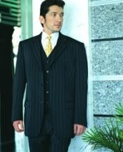 C765 Power Liquid Jet Black Pinstripe Superior Fabric 120s