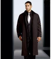 Polyester/Nylon Long Rain Coat-Trench Coat(Snap