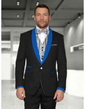 Product#JSM-2995Mens1ButtonBlack/RoyalBlueShawlLapelVested