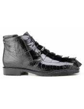 EK18 Belvedere Mens Genuine Hornback and Genuine Ostrich Lace