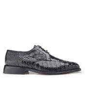 Belvedere Mens Genuine Crocodile Black