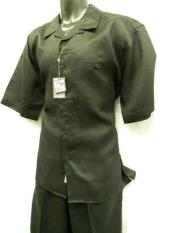 SM706 2 Piece Big Size Linen Short Sleeve trendy