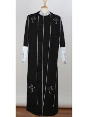 JSM-3867 Mens Big & Tall Church Cross Accent Robe