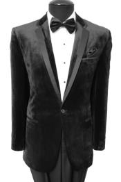 AC-290 Velvet Velour Blazer Online Sale Sport Coat Two