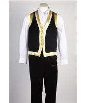 JSM-530 Mens Black Matching Vest & Pants Set