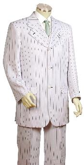 Fashionable 3 Piece Vested White