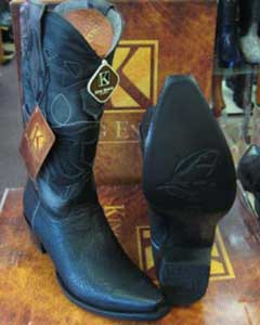 MK910 King Exotic Boots Snip Toe Genuine Shark Western