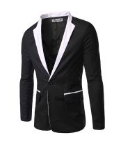 Mens Black and White Blazer